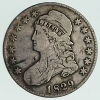 1829 CAPPED BUST HALF DOLLAR - CIRCULATED 3573
