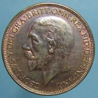 CHOICE TONED UNCIRCULATED 1927 GEORGE V PENNY