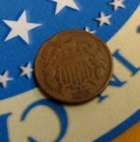 1869 TWO CENT UNITED STATES CIVIL WAR TYPE COIN