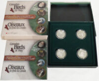 2000 CANADA BIRDS OF PREY 4 COIN 50 CENTS SILVER PROOF SET   SALE