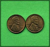 LOT OF TWO 2 LINCOLN WHEAT CENTS.  1944, 1945   LP-2