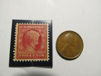 1909, LINCOLN CENT AND STAMP