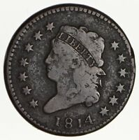 1814 CLASSIC HEAD LARGE CENT - CIRCULATED 1624
