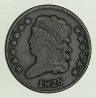 1825 CLASSIC HEAD HALF CENT - CIRCULATED 4716