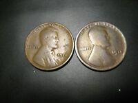 TWO 1914 LINCOLN WHEAT PENNIES FOR ONE PRICE - 5 PHOTOS