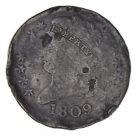 1809 CLASSIC HEAD HALF CENT - CIRCULATED 8126