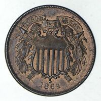 1864 TWO-CENT PIECE - CHOICE 9202