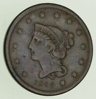 1840 BRAIDED HAIR LARGE CENT - CIRCULATED 8139