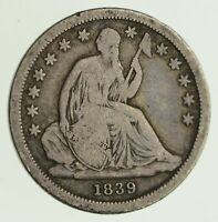1839 SEATED LIBERTY SILVER DIME - CIRCULATED 8094