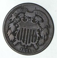 1871 TWO-CENT PIECE - CIRCULATED 9205
