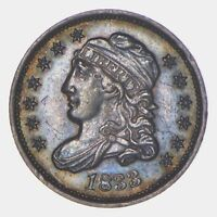 1833 CAPPED BUST HALF DIME - TONED 5824