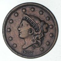 1837 YOUNG HEAD LARGE CENT - CIRCULATED 9230