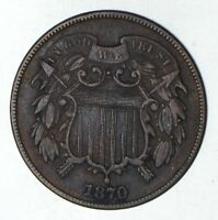 1870 TWO-CENT PIECE - CIRCULATED 9199