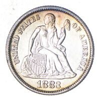 1883 SEATED LIBERTY SILVER DIME - NEAR UNCIRCULATED 6034