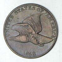 1858 FLYING EAGLE CENT - CIRCULATED 9174