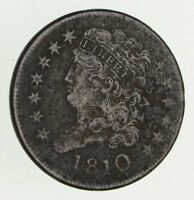 1810 CLASSIC HEAD HALF CENT - CIRCULATED 9413