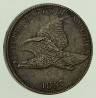 1857 FLYING EAGLE CENT - NEAR UNCIRCULATED 8112