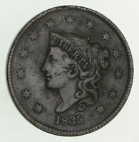1835 YOUNG HEAD LARGE CENT - CIRCULATED 9518