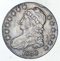1830 CAPPED BUST HALF DOLLAR - CIRCULATED 9288
