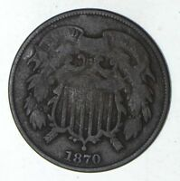1870 TWO-CENT PIECE - CIRCULATED 9209