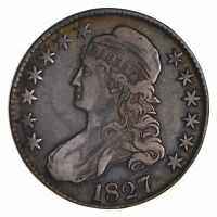 1827 CAPPED BUST HALF DOLLAR - CIRCULATED 9062