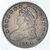 1824 CAPPED BUST HALF DOLLAR - CIRCULATED 9307
