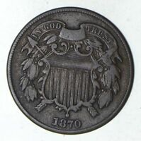 1870 TWO-CENT PIECE - CIRCULATED 9206