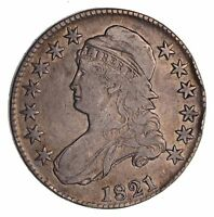 1821 CAPPED BUST HALF DOLLAR - CIRCULATED 1526