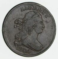 1804 DRAPED BUST HALF CENT- CIRCULATED 2337
