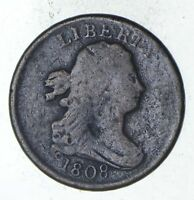 1808 DRAPED BUST HALF CENT - CIRCULATED 9330