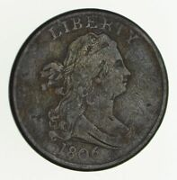 1806 DRAPED BUST HALF CENT - CIRCULATED 2460