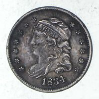 1834 CAPPED BUST HALF DIME - SHARP 9313