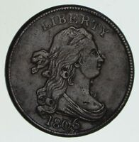 1806 DRAPED BUST HALF CENT - LARGE 6, STEMS - CIRCULATED 6048