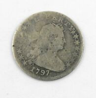 1797 UNITED STATES 15 STARS DRAPED BUST SMALL EAGLE REVERSE HALF DIME