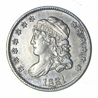 1831 CAPPED BUST HALF DIME - NEAR UNCIRCULATED 0141