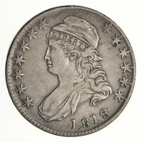 1818 CAPPED BUST HALF DOLLAR - 0.110 RARITY 4 - CIRCULATED 7000