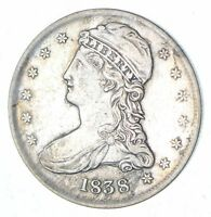 1838 CAPPED BUST HALF DOLLAR - CIRCULATED 7027