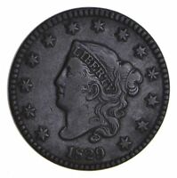 1829 MATRON HEAD LARGE CENT - CIRCULATED 9942