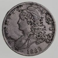1832 CAPPED BUST HALF DOLLAR - CIRCULATED 7612