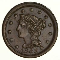 1856 BRAIDED HAIR LARGE CENT N-12 - UPRIGHT 5 - NEAR UNCIRCULATED 6194
