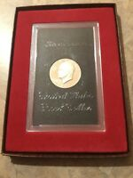 1971 S PROOF EISENHOWER ORIGINAL BROWN BOX IKE DOLLAR 40 SILVER US COIN