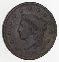 1836 YOUNG HEAD LARGE CENT - CIRCULATED 7788