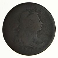 1796 DRAPED BUST LARGE CENT - CIRCULATED 6954