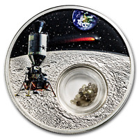 2019 NIUE 1 OZ SILVER 50TH ANNIVERSARY MOON LANDING   DIAMONDS   SKU173176