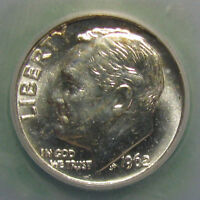 1962 ROOSEVELT DIME   FLASHY GEM GRADED MS 67 BY ICG   LISTS FOR $70