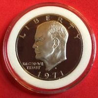 1971 S EISENHOWER SILVER PROOF IKE DOLLAR BU CONDITION IN COIN CAPSULE