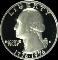 1976 S SILVER PROOF BICENTENNIAL WASHINGTON QUARTER DEEP CAMEO IN CAPSULE