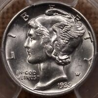 1939 S MERCURY DIME PCGS MS66 FB SUPERB FULLY FROSTY WHITE D