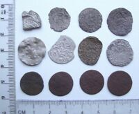 LOT OF 12 DIFFERENT MEDIEVAL POST MEDIEVAL SILVER COPPER COI