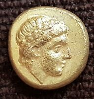 VERY RARE GREEK GOLD COIN EL HEKTE 1/6 STATER  IONIA PHOKAIA